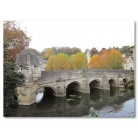 Αφίσα (Bradford, αρχιτεκτονική, παλιός, ποτάμι, πόλη, γέφυρα)